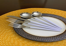 Load image into Gallery viewer, White Handle Flatware Set of 30 - geega-home-decor
