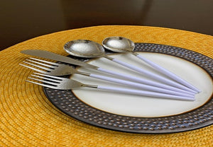 White Handle Flatware Set of 30 - geega-home-decor