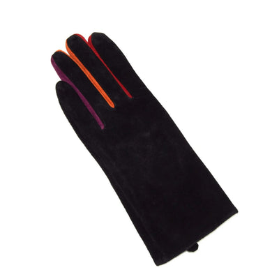 Pig Suede Touch Screen Gloves with Multi Color Fingers - La Fiorentina