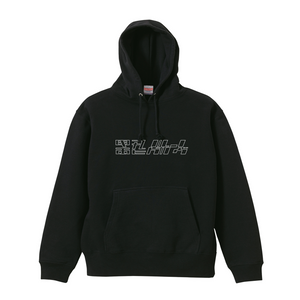CUT UP LOGO Hoodie(BLACK)