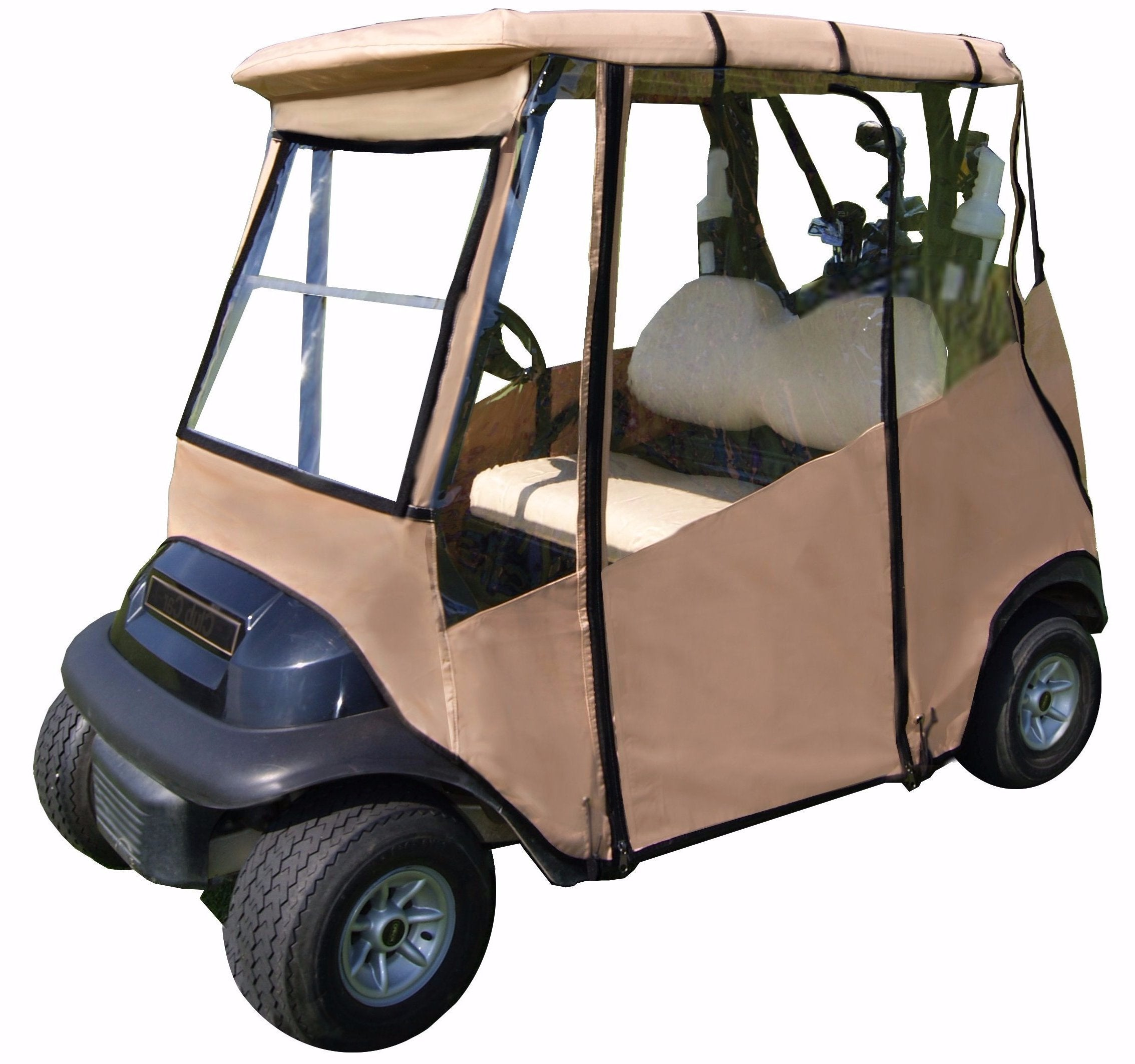 Golf Cart Covers And Enclosures For Ezgo Club Car Yamaha Carts Need Wiring Diagram 1990 Universal Portable Rain Resistant Drivable