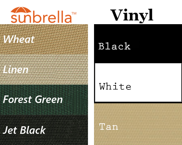 Sunbrella and Vinyl Colors