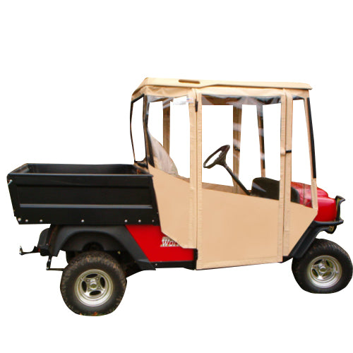 Hinged Door Golf Cart Enclosures : Ezgo utility doorworks hinged door enclosure sunbrella