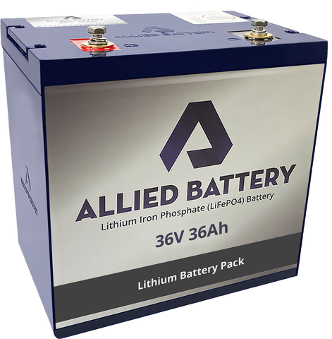 "Allied ""Drop in Ready"" Lithium Golf Cart Batteries for the 36V Club Car DS2000+"