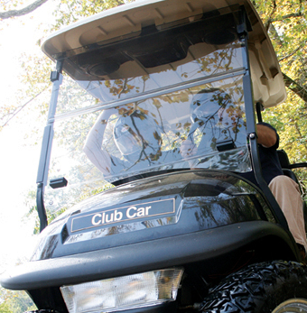 UltraClear Golf Cart Windshield for Club Car Precedent (2004-Current) - Includes Hardware