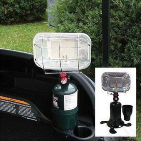 Portable Golf Cart Heater - Includes Cup Holder - Universal Fit