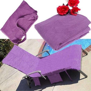 Beach Lounge Chair Cover Towel For Holiday Garden Lounge With Large Pockets K
