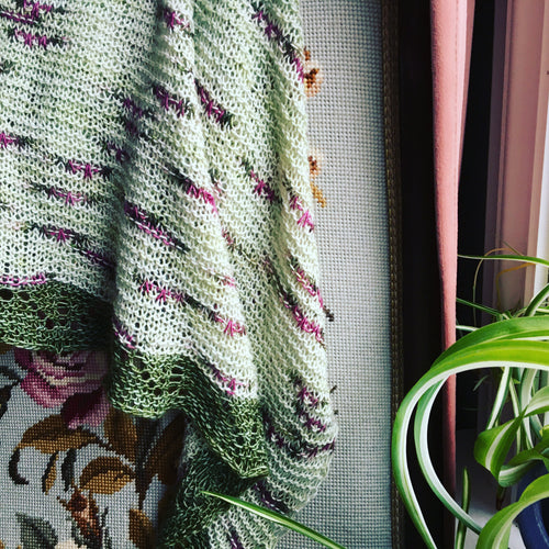 Hope Springs Eternal Shawl PDF Pattern, Norwegian