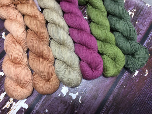6-skein Shawl Kit for