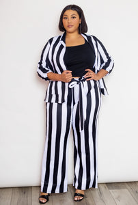 Black/White Striped Jacket