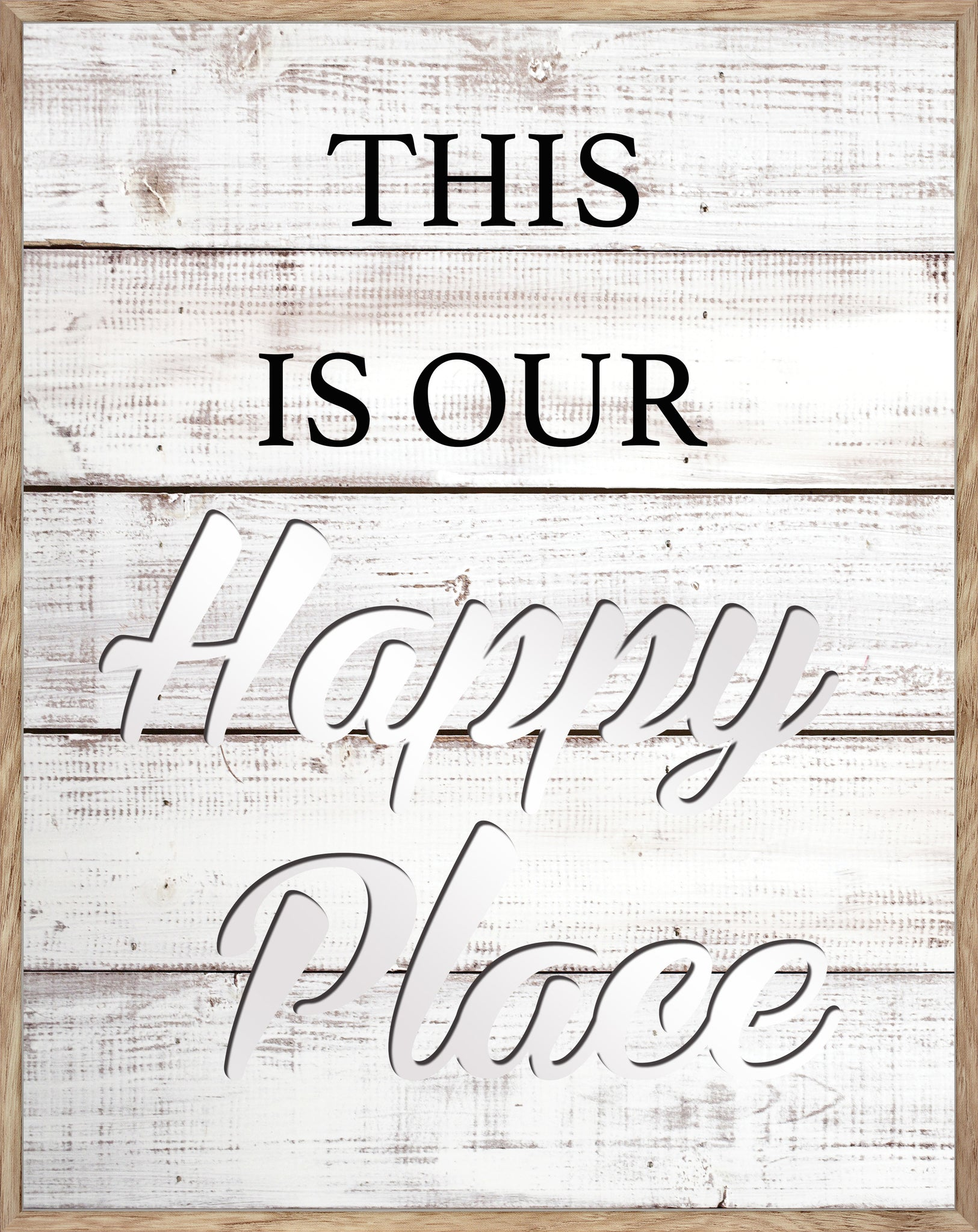 This is Our Happy Place -  MIRROR CUT-OUT, PORTRAIT TYPOGRAPHY