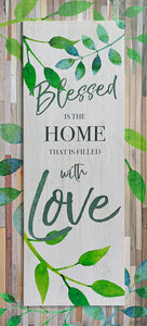 Blessed Is The Home That Is Filled With Love - Wood PLAGUE