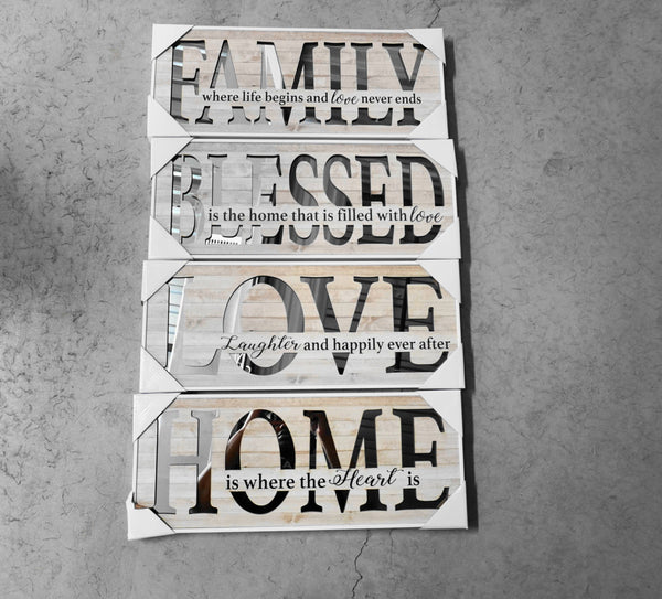 Home is Where The Heart Is II - MIRROR PANEL SIGN
