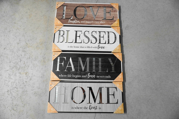 Home Is Where The Heart Is - CUT-OUT MIRROR PANEL SIGN