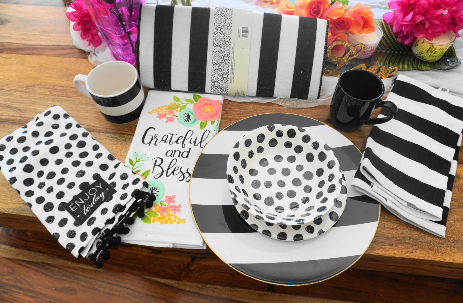 Polka Dots & Stripe Kitchen Collection