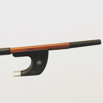 Nickel mounted, Pernambuco, German Double Bass bow branded W.E Dorfler