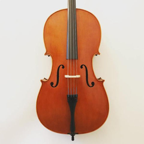 Modern Chinese handmade cello labelled 'Elysia'