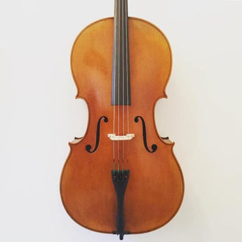 Modern Handmade cello labelled 'Lutherie D'art'