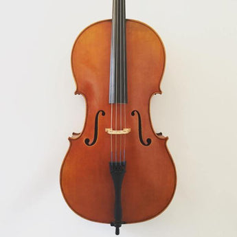 Modern Chinese handmade cello labelled 'Stentor Master'