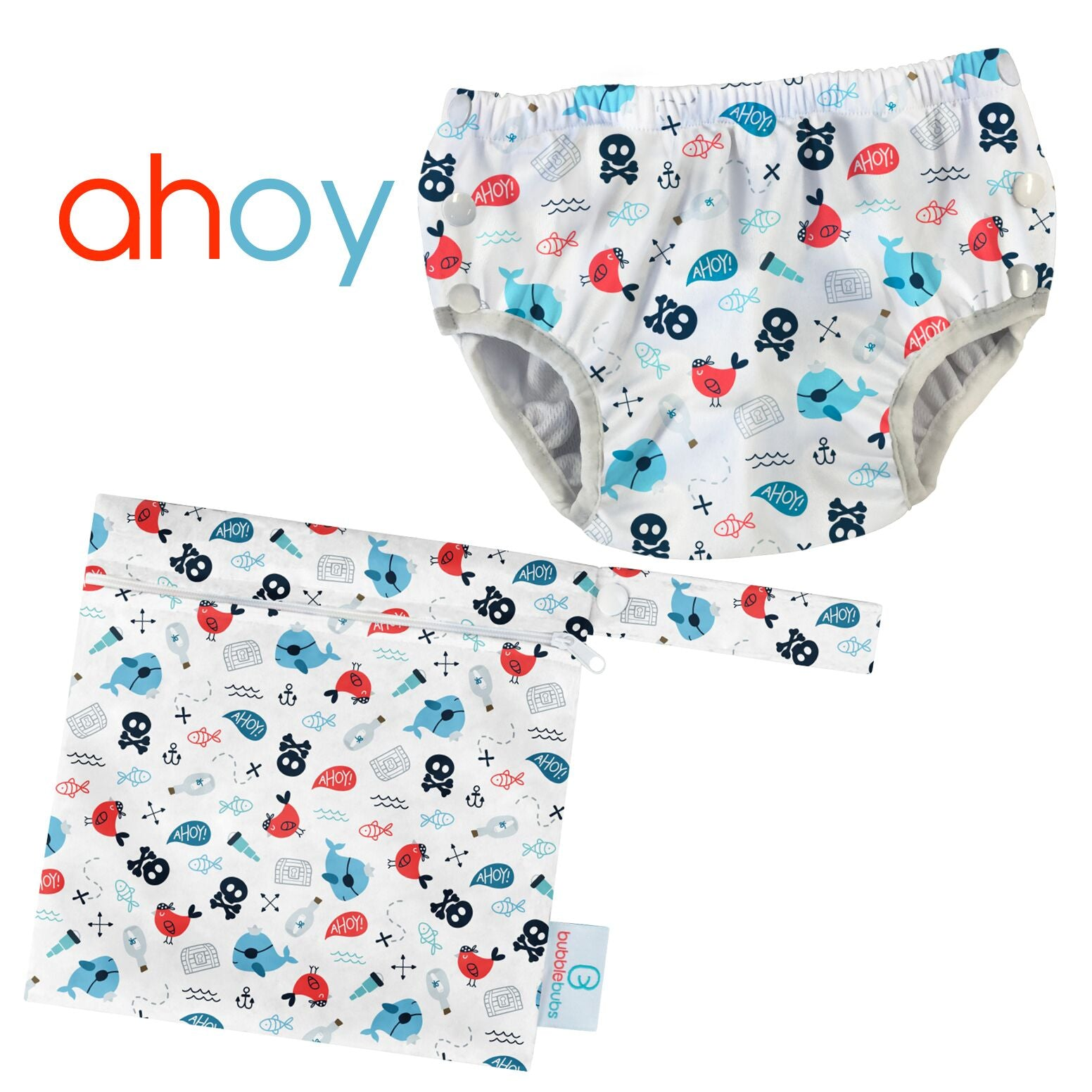 Ahoy Swim Nappy with Bonus Mini Wetbag