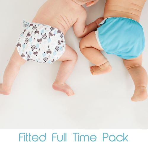Fitted Nappy Full Time Pack