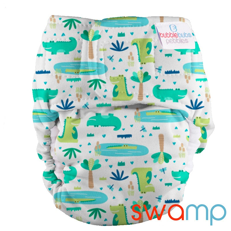 PUL Pebbles Newborn All In One - Swamp