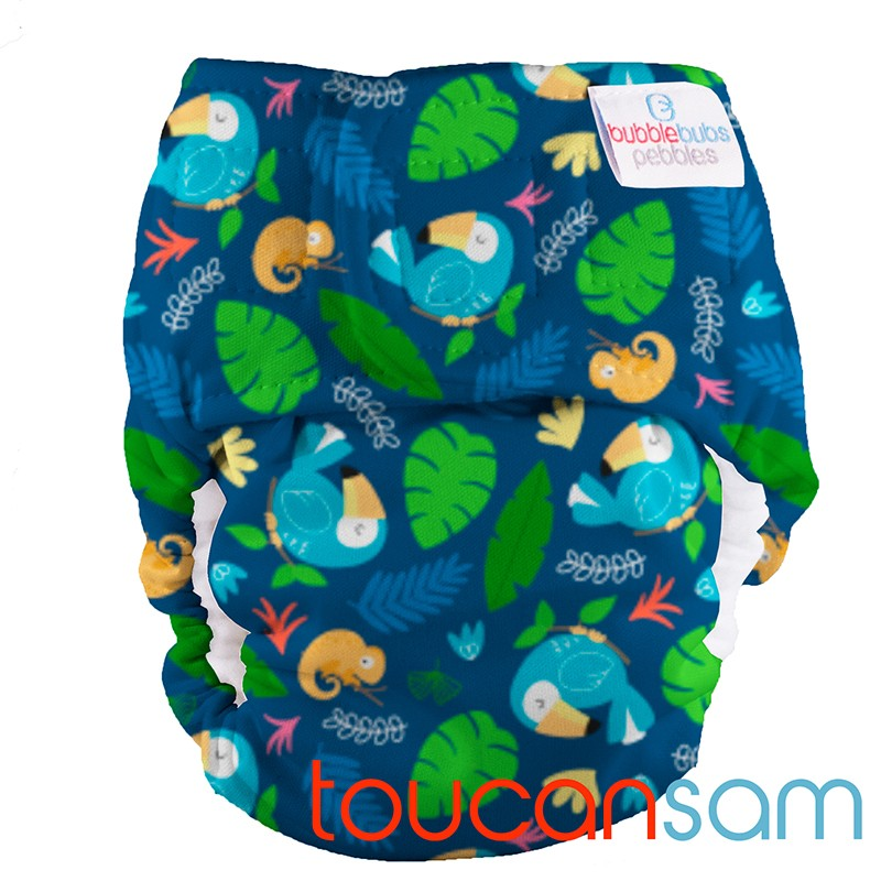PUL Pebbles Newborn All In One - Toucan Sam