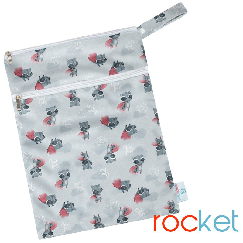 Rocket Minky Double Pocket Wetbag
