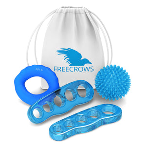 Toe Separators - Hand Grip Strengthener Workout - Spiky Massage Ball Set by Freecrows