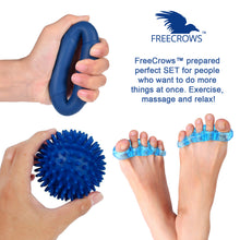 Load image into Gallery viewer, Big Toe Separators - Hand Grip Strengthener Workout - Spiky Massage Ball Set by Freecrows