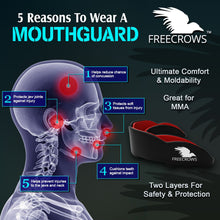 Load image into Gallery viewer, FreeCrows Boxing Reflex Ball Boxing Wraps MMA Mouthguard SET of 3
