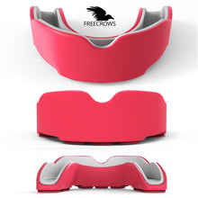 Load image into Gallery viewer, MMA Mouthguard - (pack of 2) Teeth Protection All Contact Sports Pink/Green by Freecrows