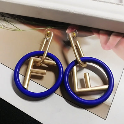 Drop Earring - BOHO letter drop earring Latest Bohemian Fashion Earrings