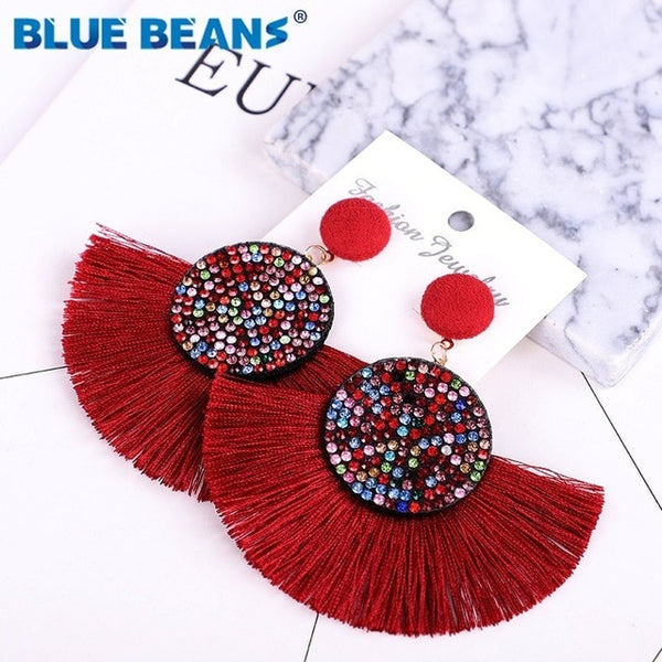Tassel earrings bohemian statement