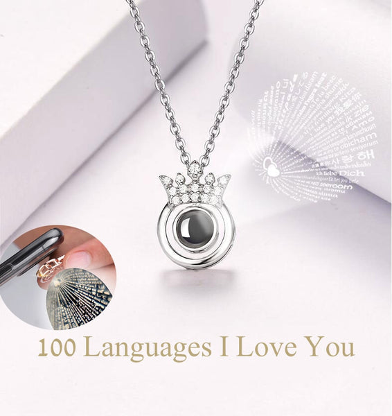 Stylish Women Pendant - Love in 100 Language