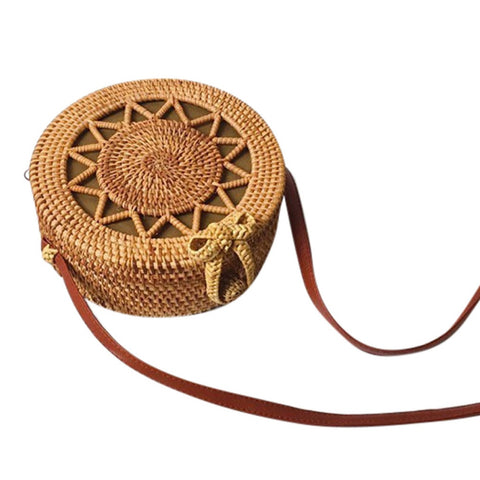Bali Round Retro BOHO BAG - Round Rattan Crossbody Bag