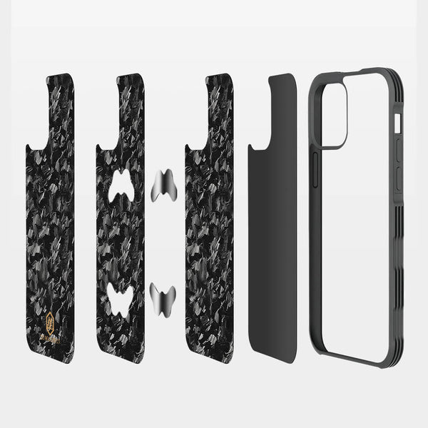 Shockproof | Forged Carbon Fiber Case for iPhone 12/12 Pro/12 Pro Max/12 mini