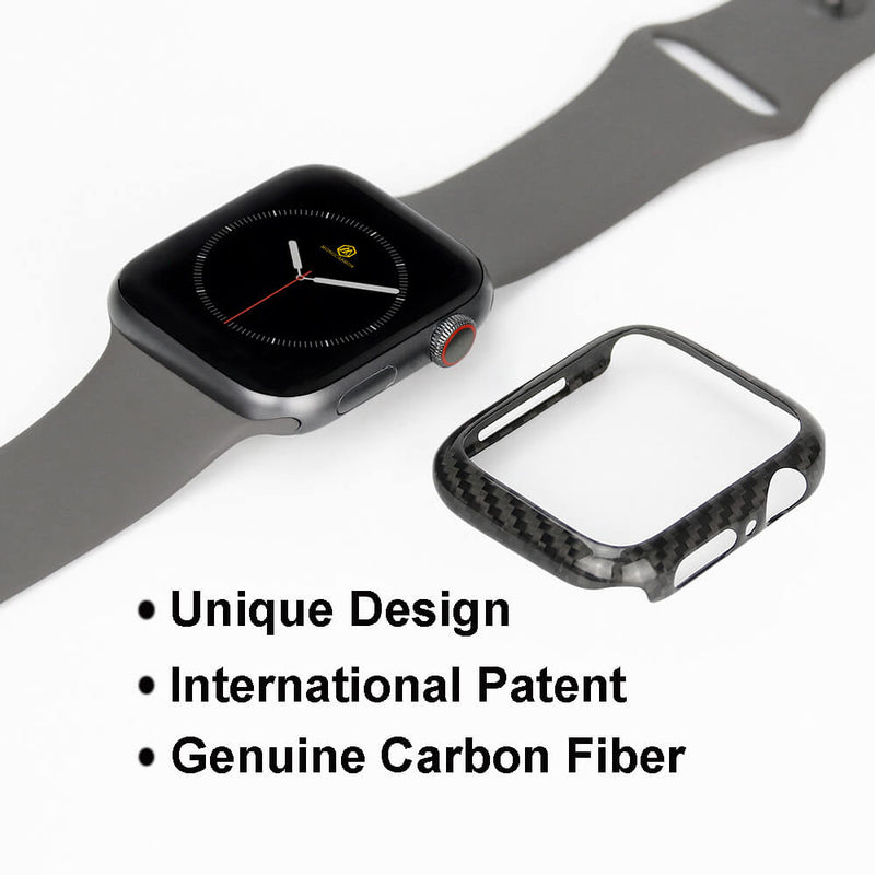 Carbon Fiber Case for Apple Watch 44mm Series 6/5/4/SE | Glossy/Matte Finish