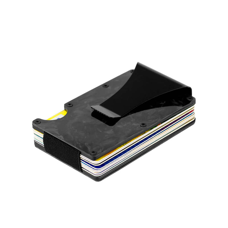 Slim Forged Carbon Fiber Credit Card Holders / Wallets | RFID Blocking