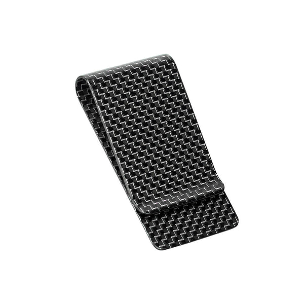 Carbon Fiber Money Clip | Titanium Silver