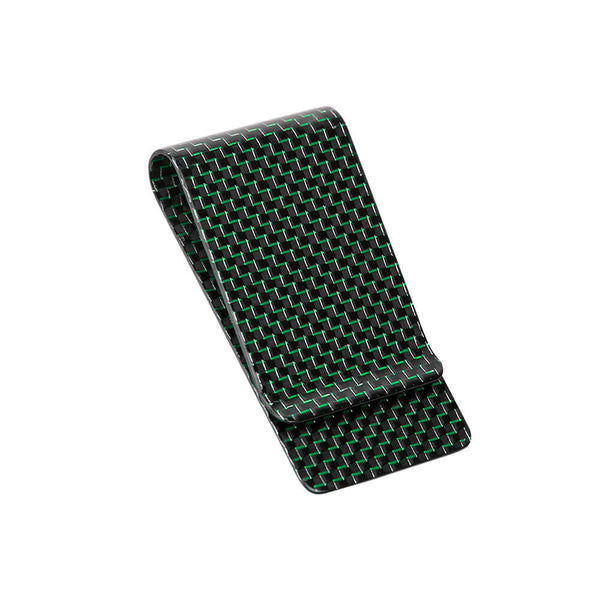 Carbon Fiber Money Clip | Titanium Green