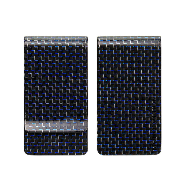 Carbon Fiber Money Clip | Titanium Blue