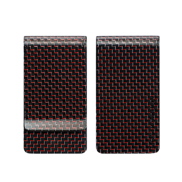 Carbon Fiber Money Clip | Titanium Red