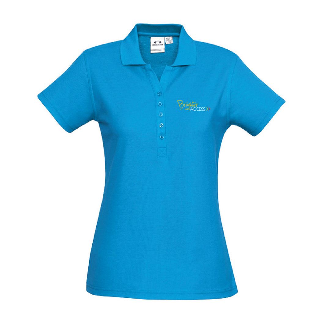 Ladies Brighter Access Polo (Cyan)