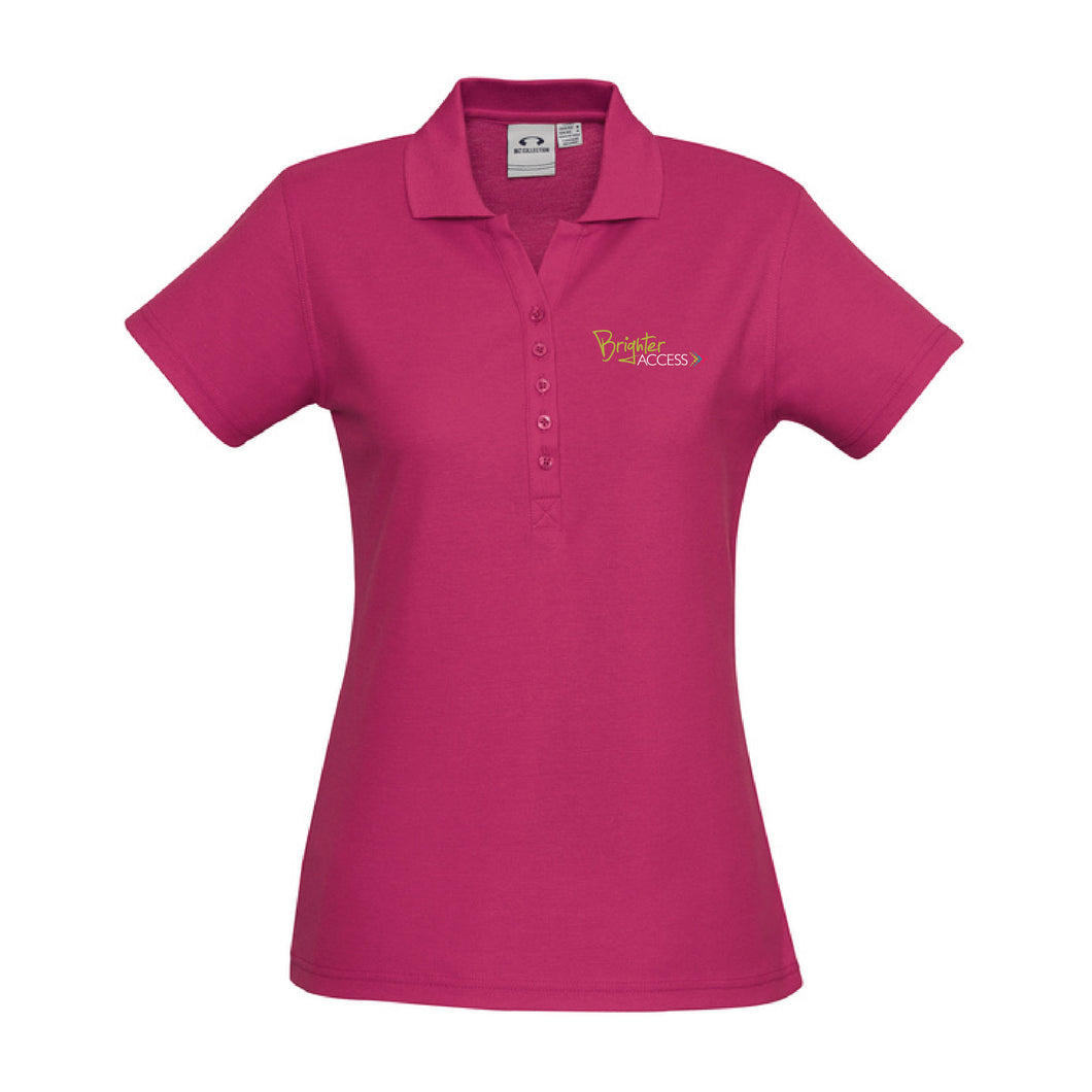 Ladies Brighter Access Polo (Fuchsia)