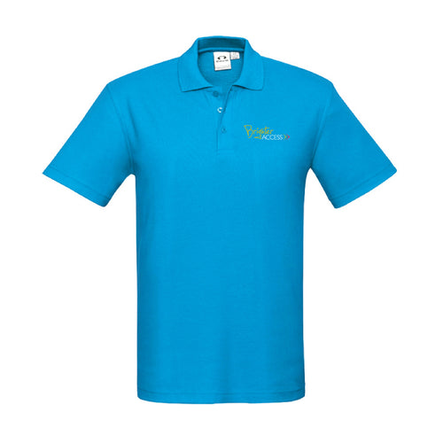 Mens Brighter Access Polo (Cyan)