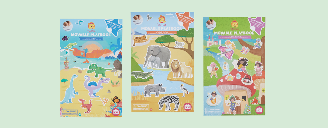 Movable Playbooks - Dino, Safari, Fairy