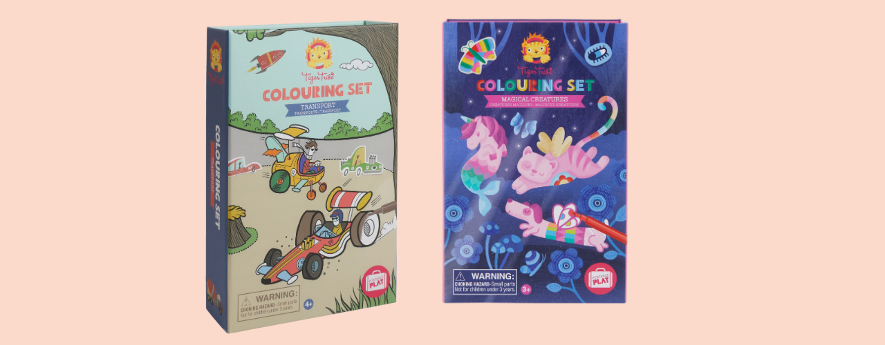 Colouring Set - Transport & Magical Creatures