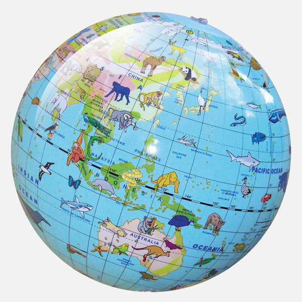 World Globe - Animals of the World 30cm