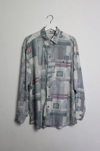 80s Printed Long-sleeved Shirt